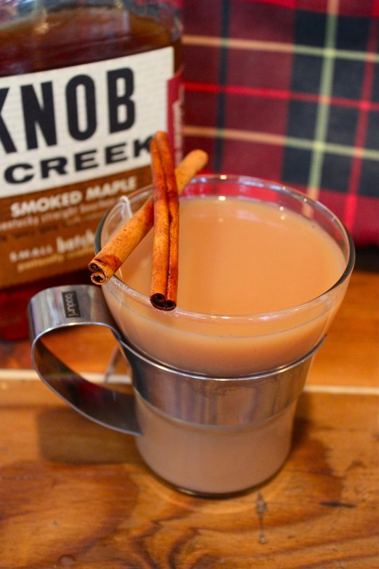 Smoked maple burbon chai tea toddy